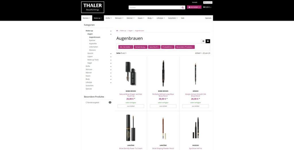 Thalershop Unterkategorie