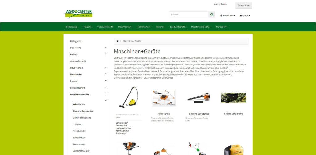 Agrocenter Kategorie