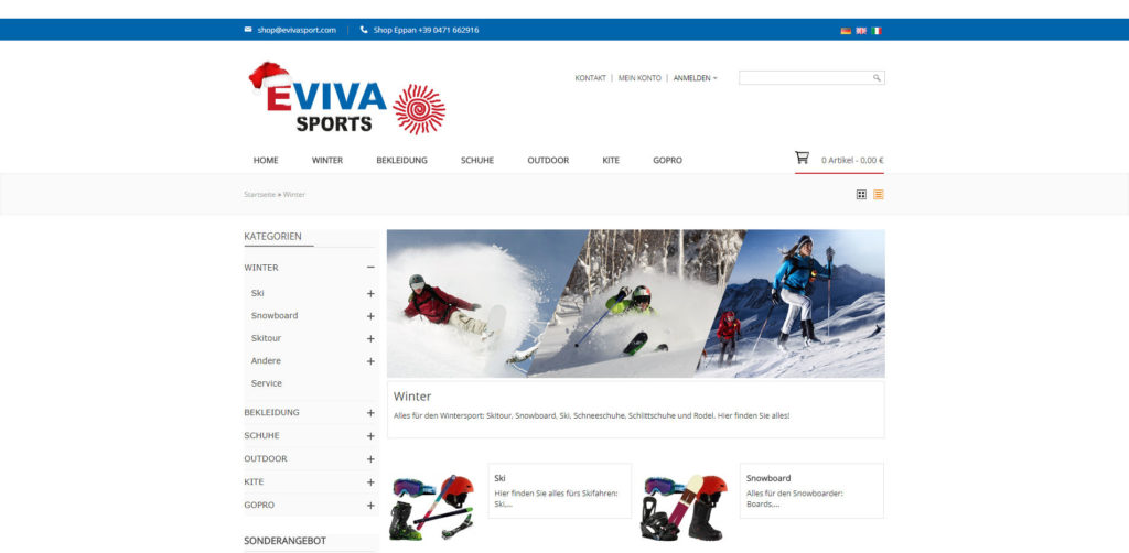 Evivasports Kategorie