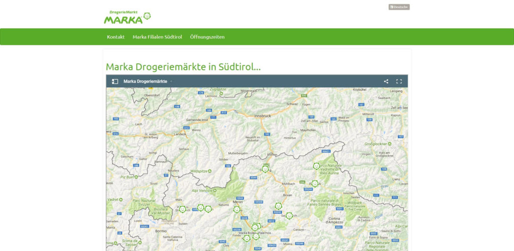 Marka Drogeriemarkt Homepage