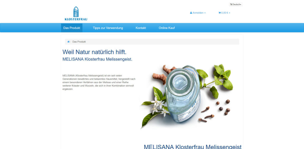 Melisana Produkt
