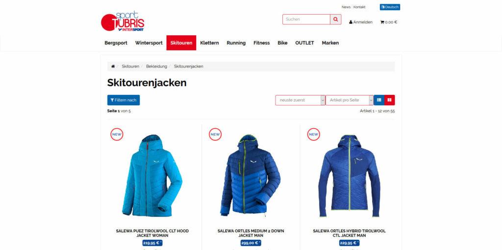 www.sport-tubris.com Kategorie