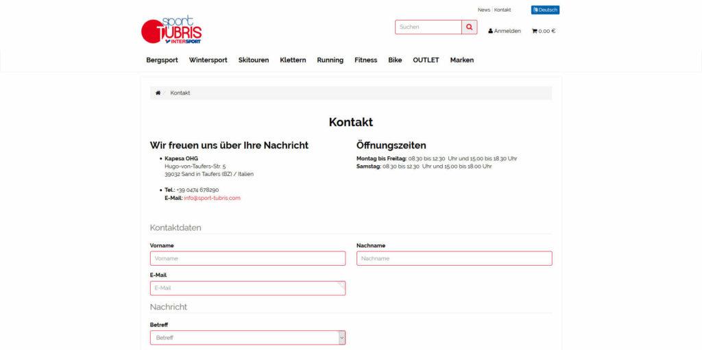 www.sport-tubris.com Kontakt