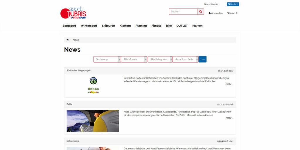 www.sport-tubris.com Newsübersicht