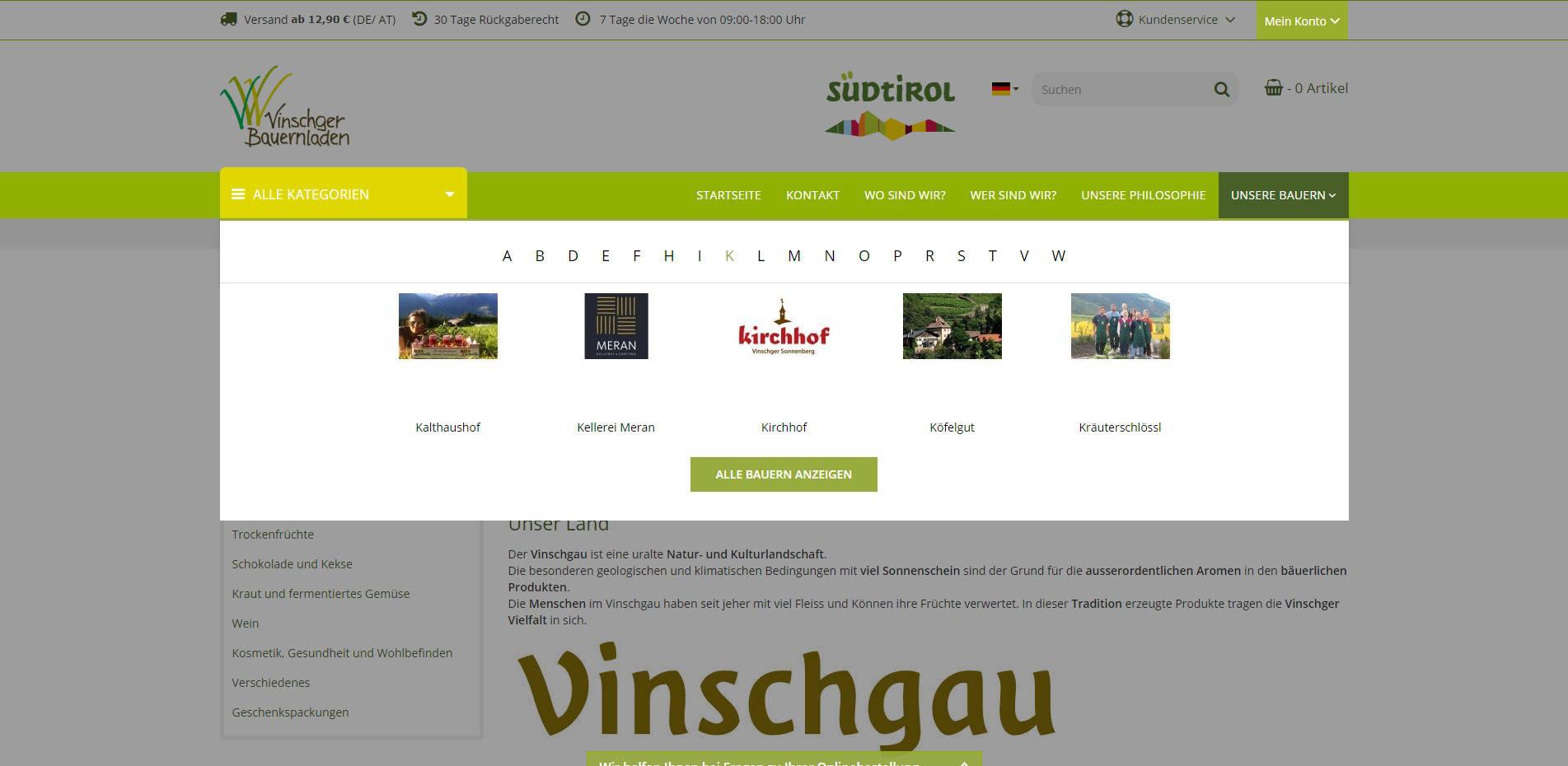 Vinschger Bauerladen Produzenten