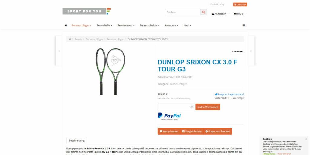 www.sportforyou.net Artikeldetail