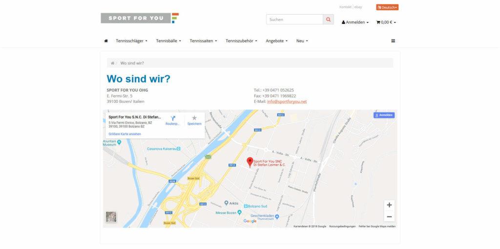 www.sportforyou.net Wo sind wir?