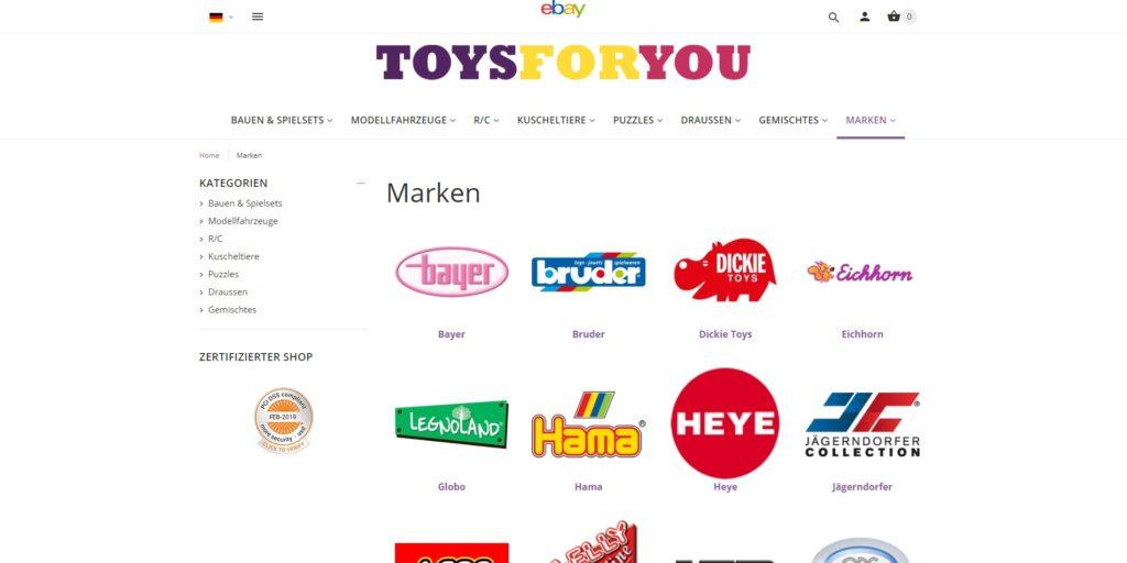 ToysForYou - Marken