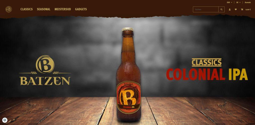 Batzenshop Homepage