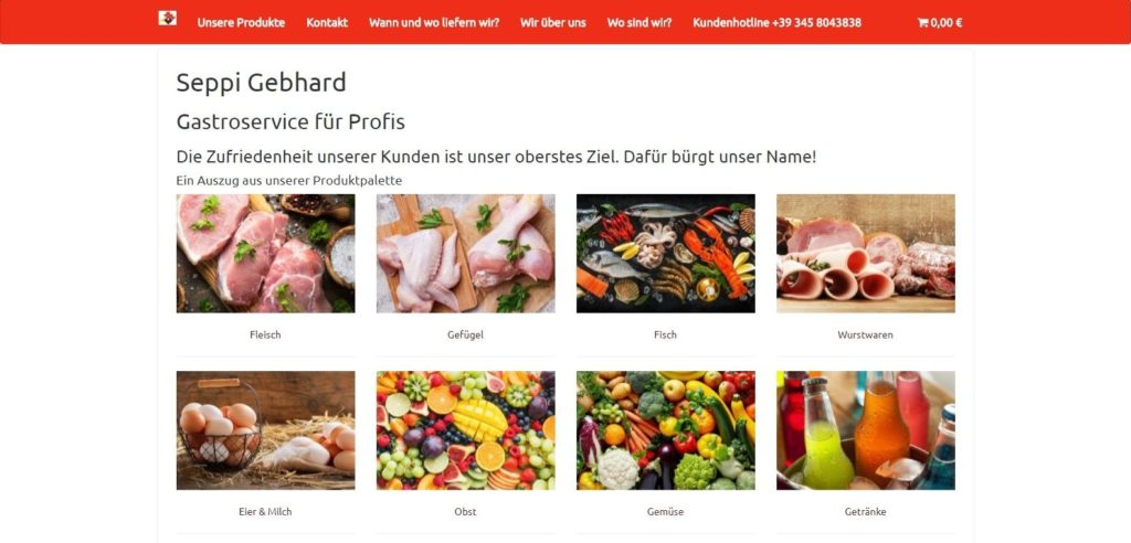 Seppishop Homepage Content