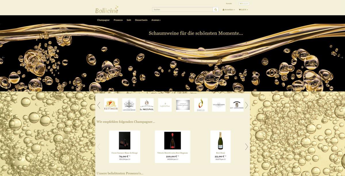 Bollicine Homepage