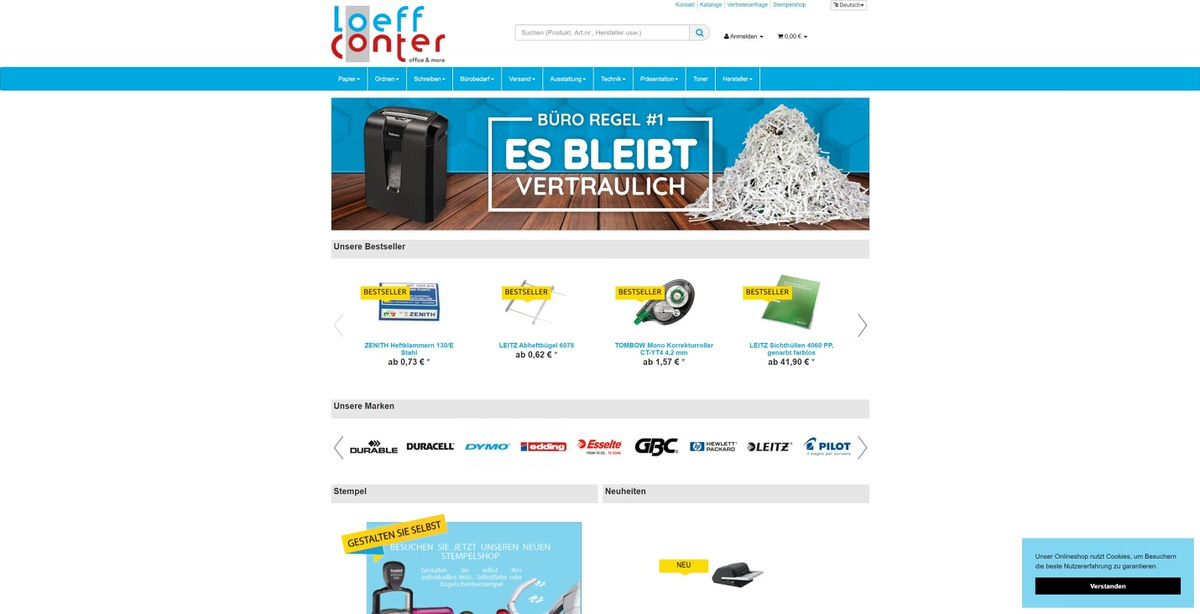 Loeff Conter Homepage