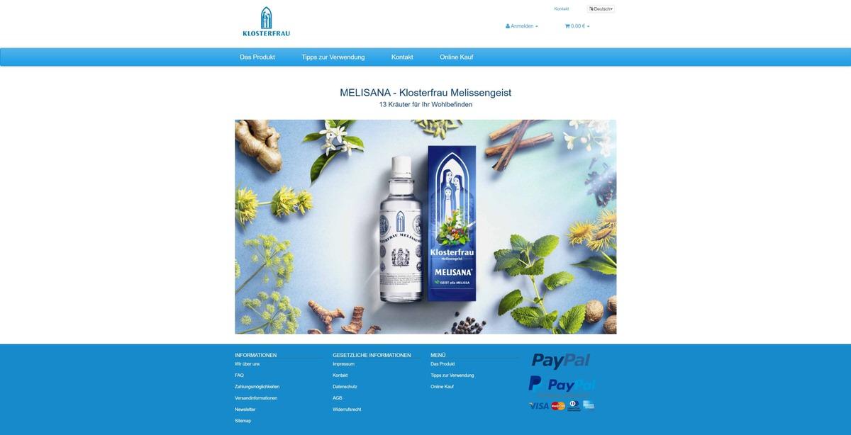Melisana Homepage