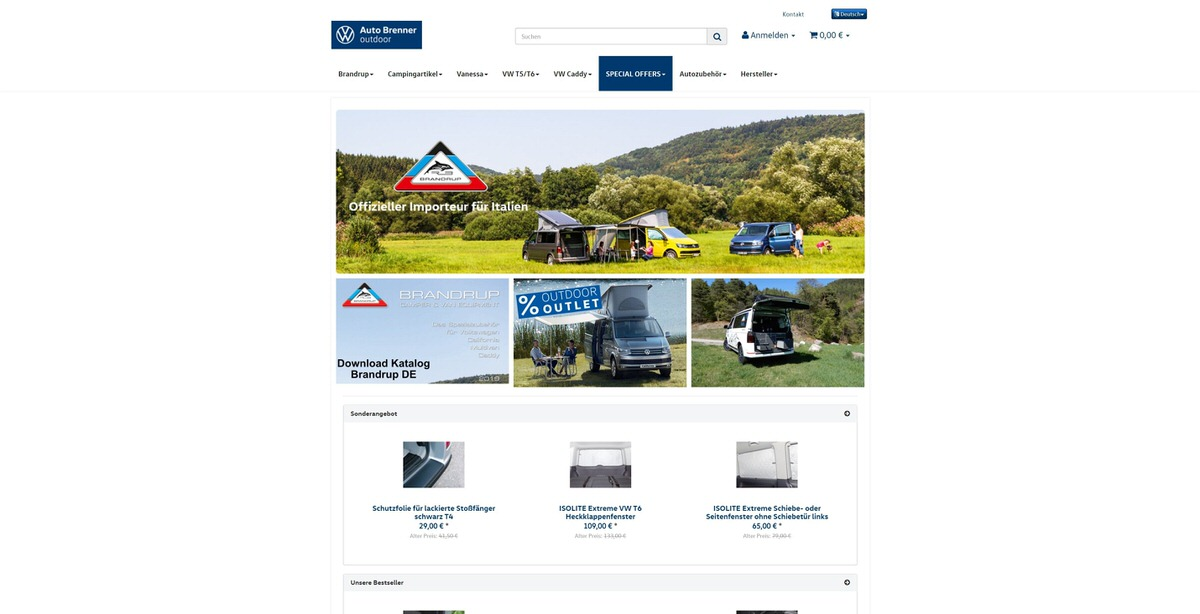Auto Brenner Outdoor Homepage