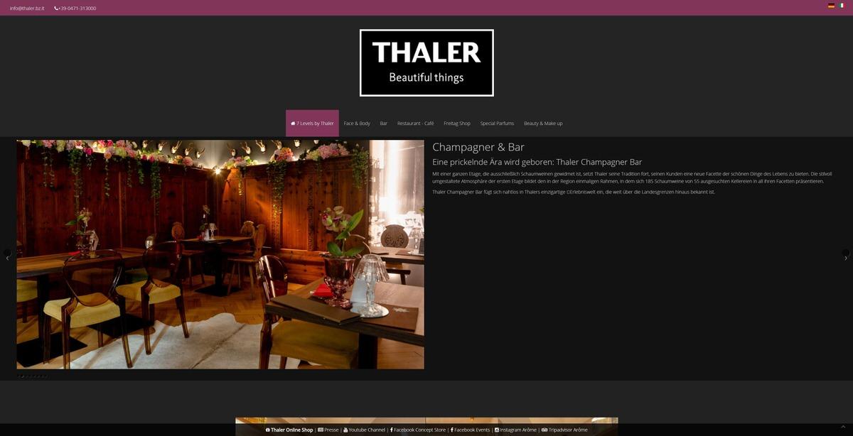 Thaler Homepage