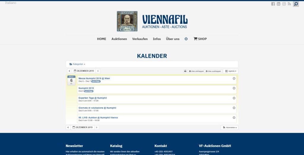 Viennafil Kalender