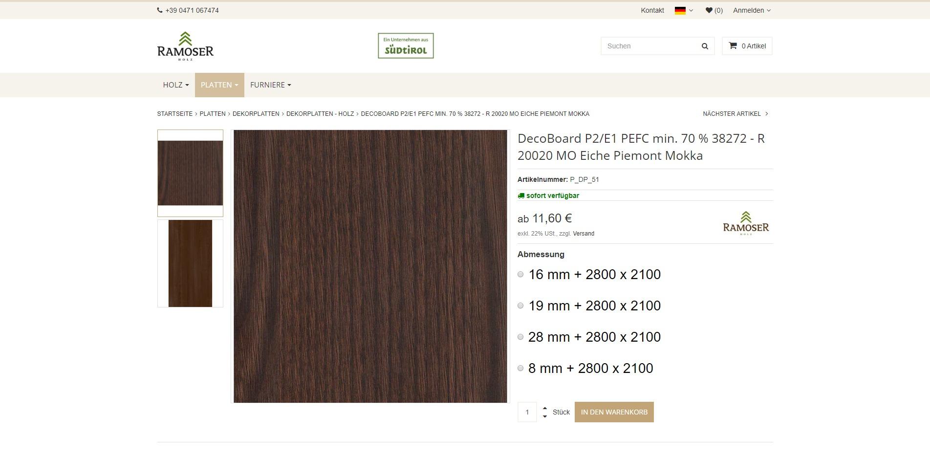 Ramoser-Holz Artikel