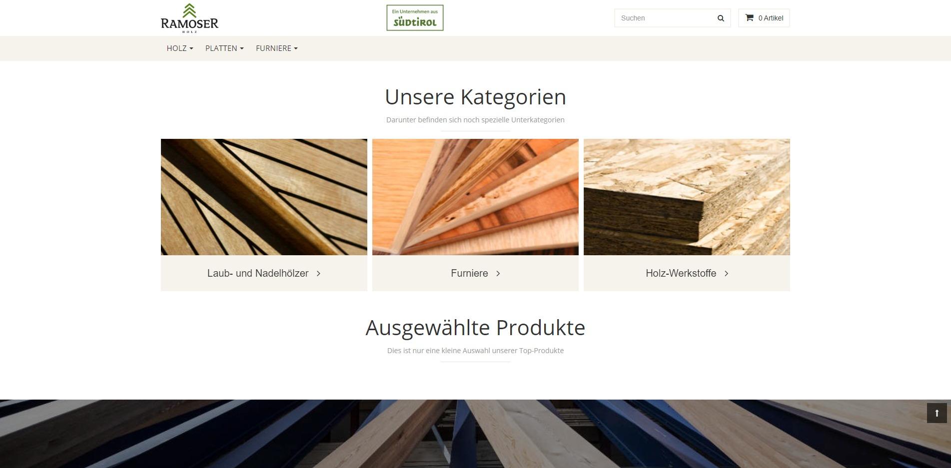 Ramoser-Holz Homepage