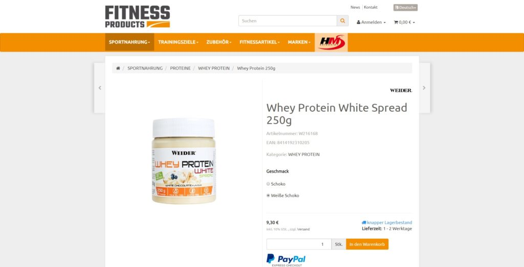 Fitness Products Artikel