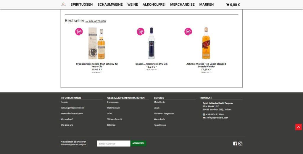 Spirit Italia Homepage