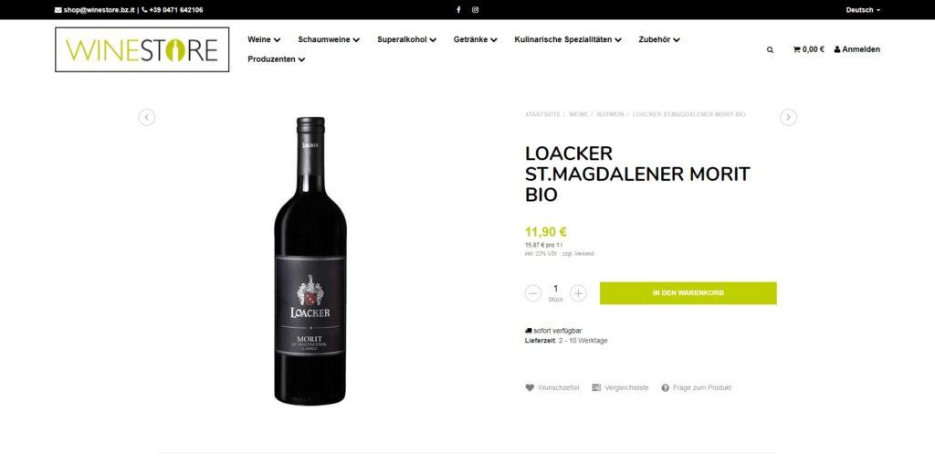 Winestore Artikel
