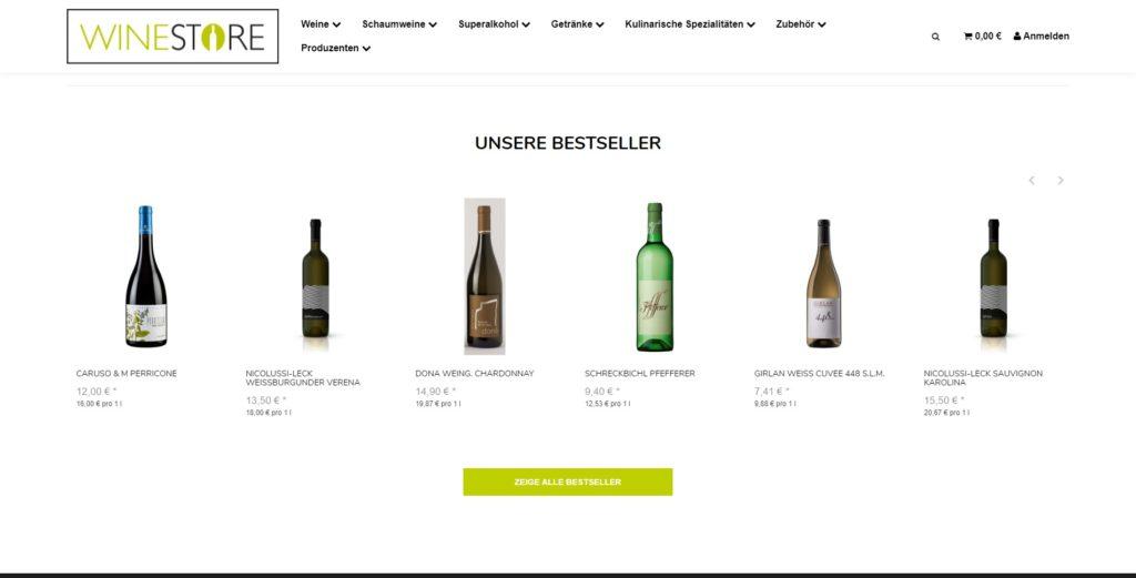 Winestore Bestseller
