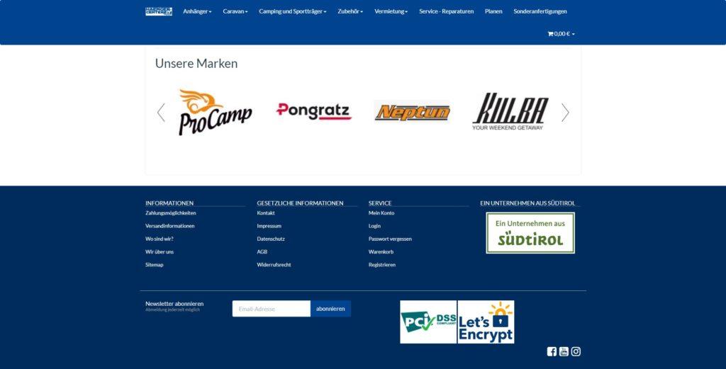 Hänger Center Homepage