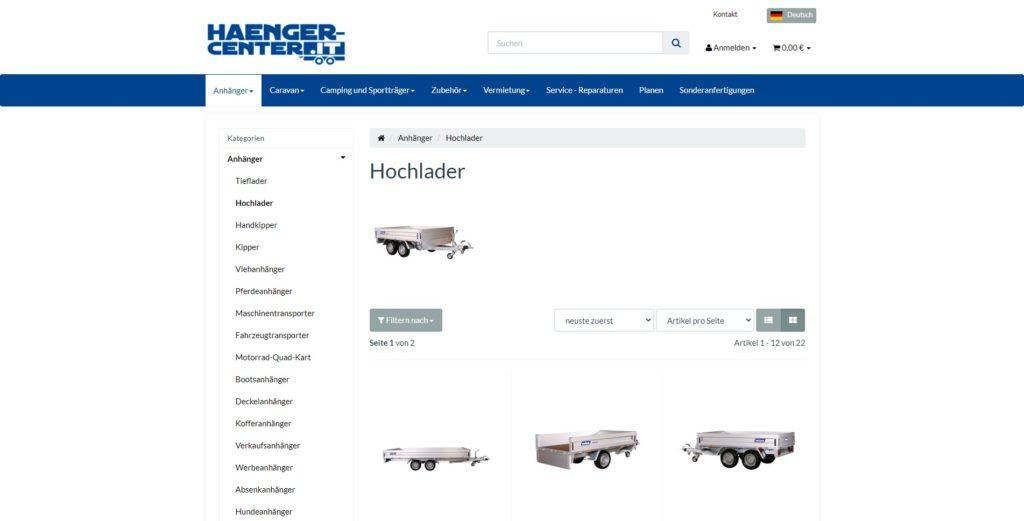 Hänger Center Unterkategorie