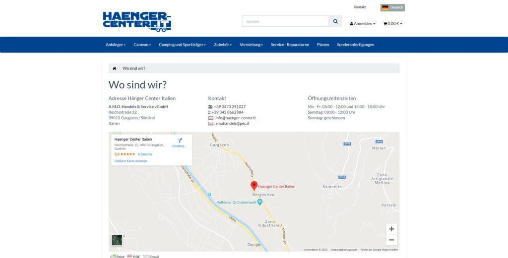 Hänger Center Wo