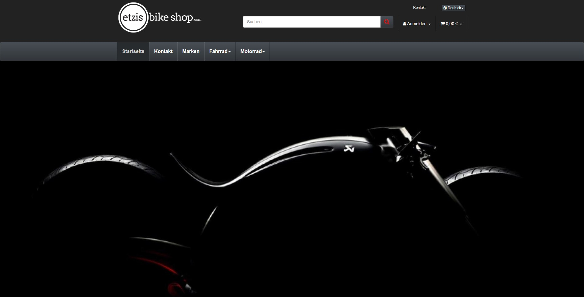 Etzis Bike Shop Homepage