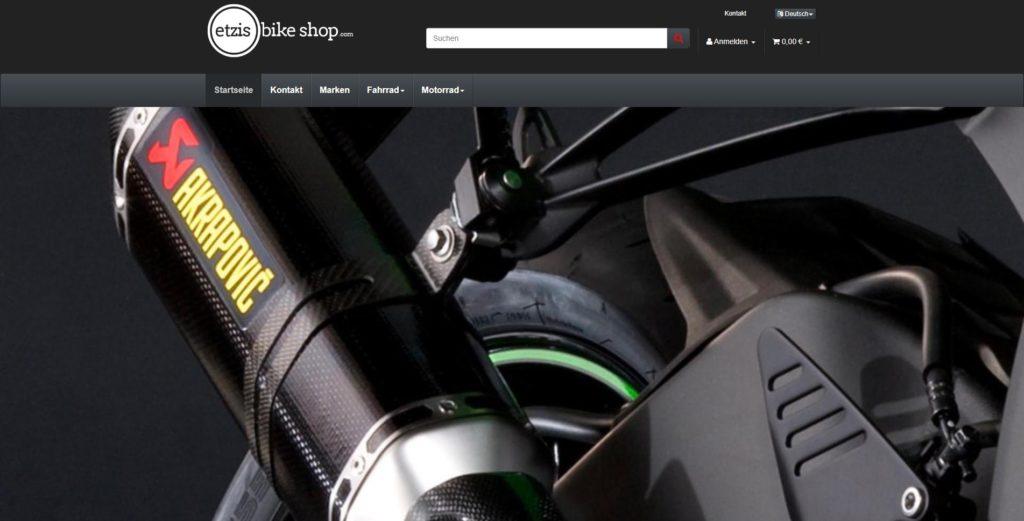 Etzis Bikeshop Homepage