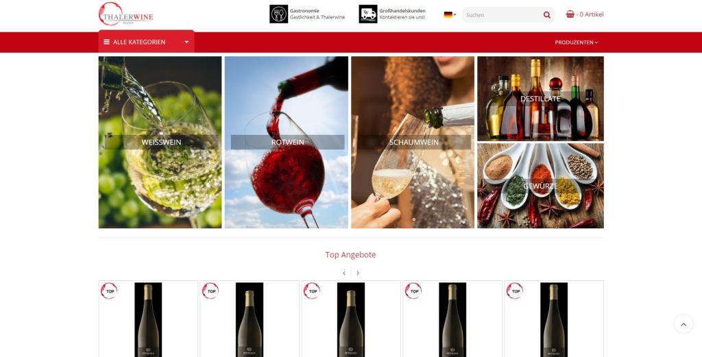ThalerWine Homepage