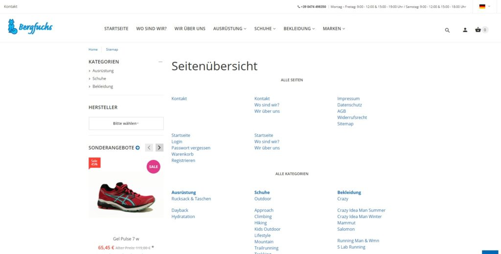 Bergfuchs_Sitemap