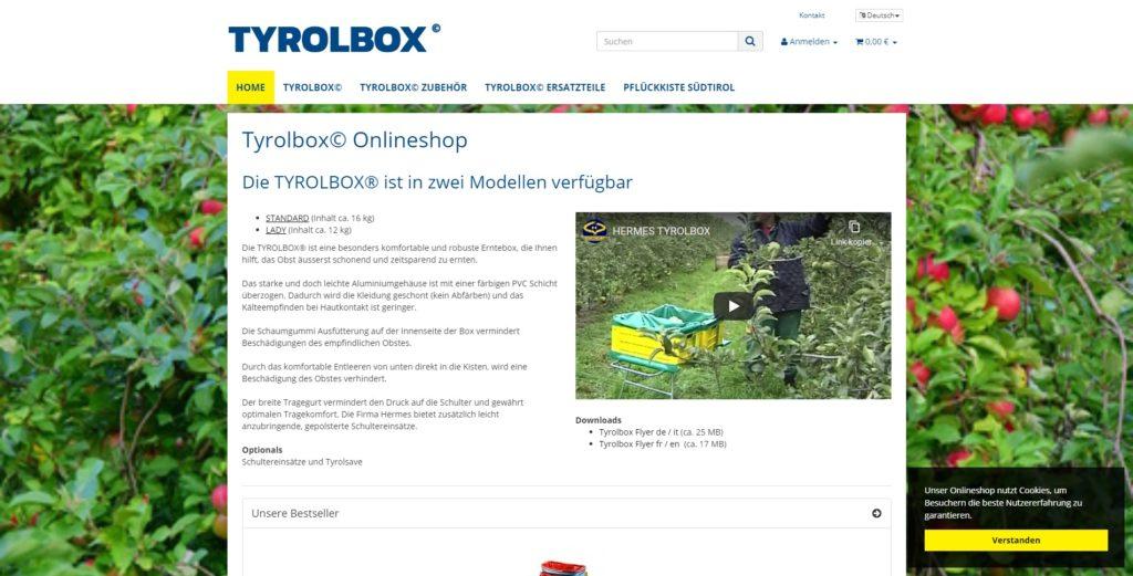 Tyrolbox Homepage