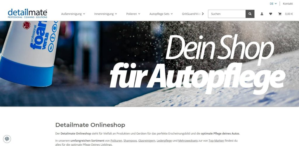 Detailmate Homepage