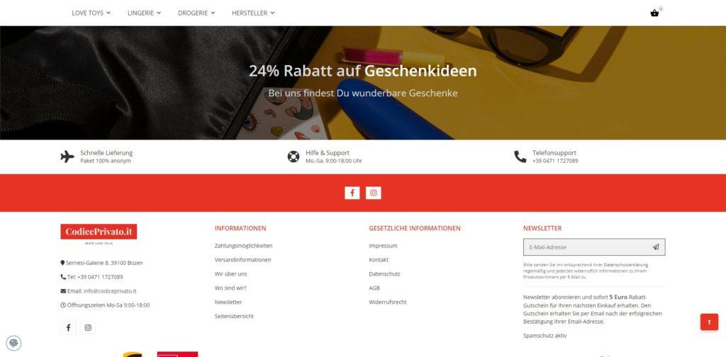 Codiceprivato Homepage